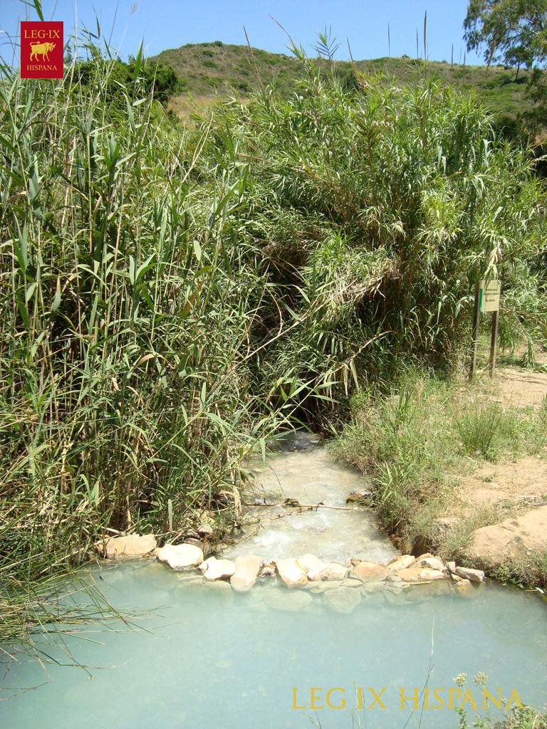 Los Baños Romano La Hedionda:Río de Manilva junto a los baños termales de La Hedionda